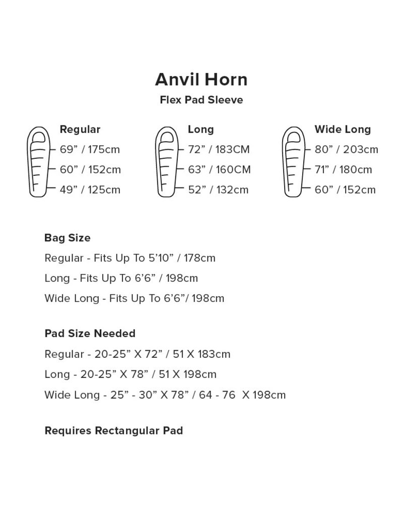 Big Agnes Anvil Horn 15 Sleeping Bag (650 DownTek) LONG LEFT