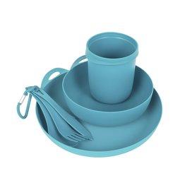 Sea To Summit Delta Camp Set - Bowl & Plate & Mug & Cutlery - Pacific Blue