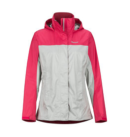 Marmot Womens PreCip Eco Jacket PLATINUM/DISCO PINK