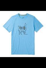 Smartwool Men's Merino Sport 150 Llama Adventures Tee GEYSER BLUE