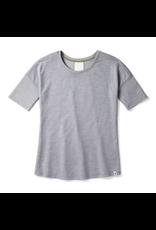Smartwool Womens Merino Sport 150 Short Sleeve Light Gray Heather