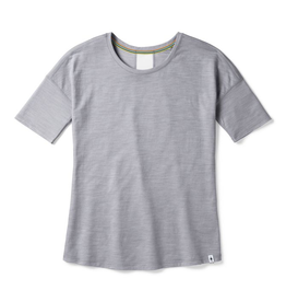 Smartwool Womens Merino Sport 150 Short Sleeve Light Gray Heather