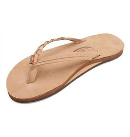 Rainbow Sandals Womens Flirty Braidy Flip Sierra Brown