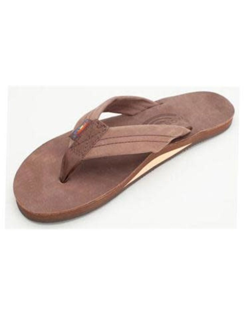 Rainbow Sandals Womens Premier Leather Flip Espresso
