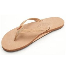 Rainbow Sandals Womens Premier Leather Flip Narrow Strap Sierra Brown