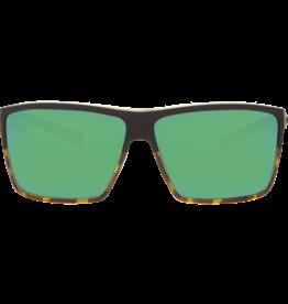Costa Del Mar Rincon Matte Black/Shiny Tortoise  Green Mirror 580P