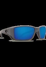 Costa Del Mar Blackfin Matte Gray  Blue Mirror 580P