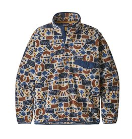 Patagonia Mens LW Synch Snap-T P/O Protected Peaks Multi Big: Oatmeal Heather
