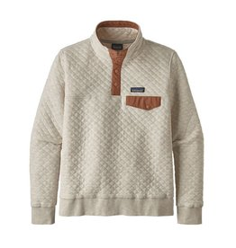 Patagonia Womens Organic Cotton Quilt Snap-T P/O Dyno White