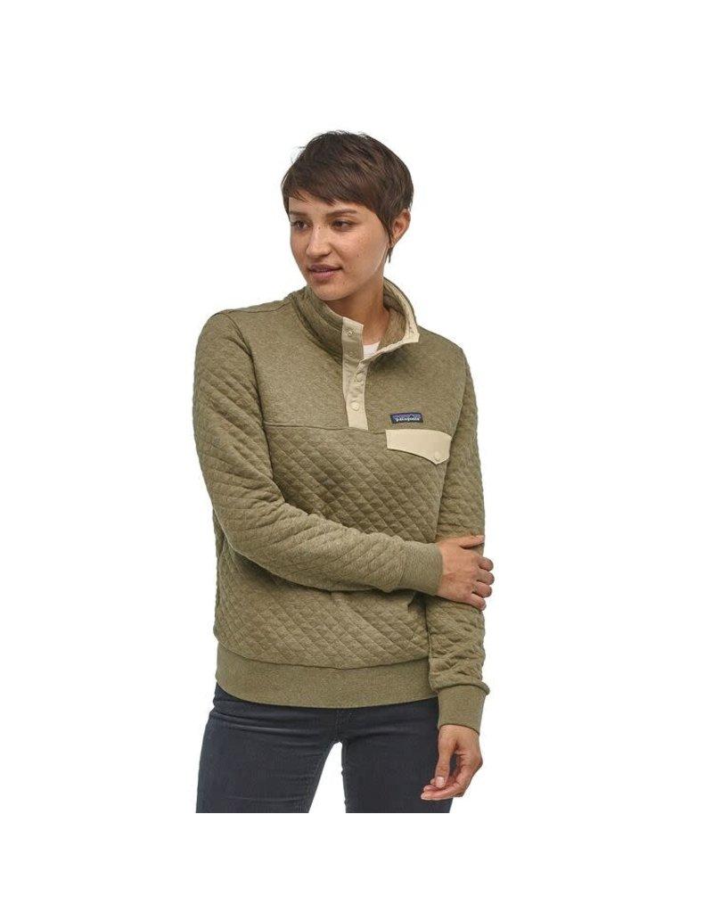 Patagonia Womens Organic Cotton Quilt Snap-T P/O Sage Khaki