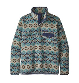 Patagonia Womens LW Synch Snap-T P/O Tundra Cluster: Big Sky Blue