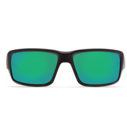 Costa Del Mar Fantail  Matte Black  Green Mirror 580G