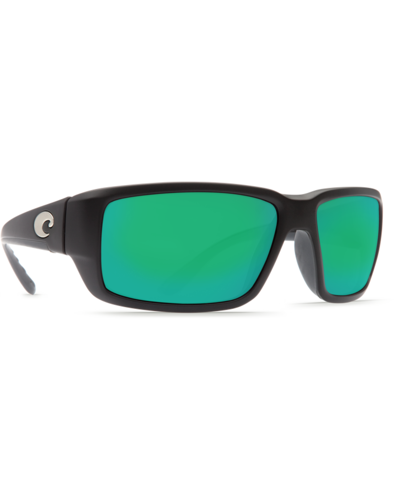 Costa Del Mar Fantail Matte Black  Green Mirror 580P