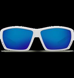 Costa Del Mar Tuna Alley  White  Blue Mirror 580P