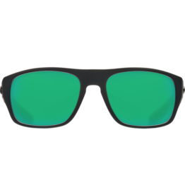 Costa Del Mar Tico Matte Black  Green Mirror 580P