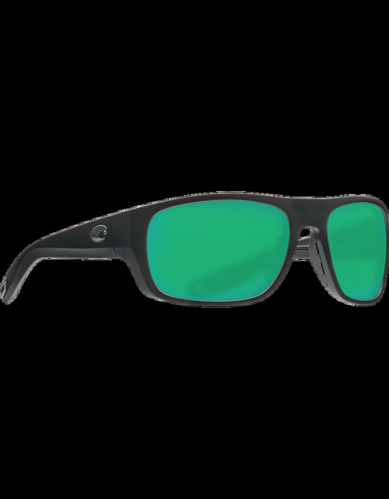 Costa Del Mar Tico Matte Black  Green Mirror 580P