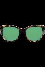 Costa Del Mar Bimini Shiny Vintage Tortoise  Green Mirror 580G