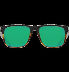 Costa Del Mar Spearo Matte Black + Shiny Tortoise  Green Mirror 580G