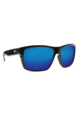 Costa Del Mar Slack Tide Shiny Black  Blue Mirror 580P