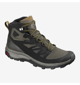 Salomon Men's Outline Mid Gtx Bk/Beluga/Capers