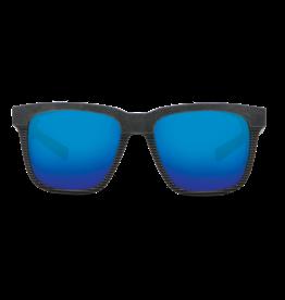 Costa Del Mar Pescador Net Gray w/Blue Rubber + Side Shields Blue Mirror 580G