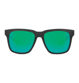 Costa Del Mar Pescador Net Gray w/Black Rubber Green Mirror 580G