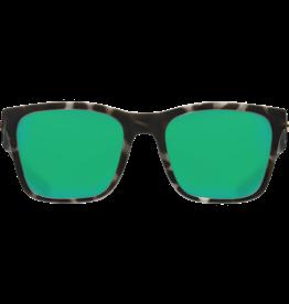 Costa Del Mar Panga Matte Gray Tortoise  Green Mirror 580P