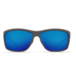 Costa Del Mar Mag Bay Matte Gray  Blue Mirror 580G