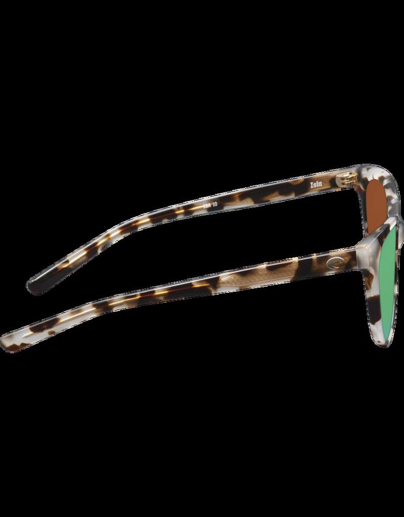 Costa Del Mar Isla Shiny Tiger Cowrie  Green Mirror 580G
