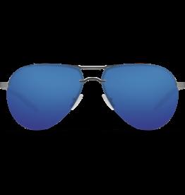 Costa Del Mar Helo Matte Silver + Translucent Gray/Orange Blue Mirror 580P