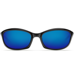 Costa Del Mar Harpoon Shiny Black  Blue Mirror 580G