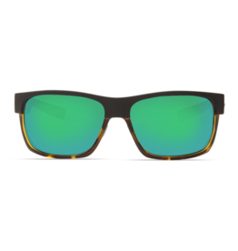 Costa Del Mar Half Moon Matte Black/Shiny Tortoise  Green Mirror 580G