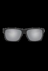 Costa Del Mar Half Moon Matte Black w/Green Logo  Gray Silver Mirror 580P