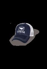 Trout Trucker XL Hat Navy/White