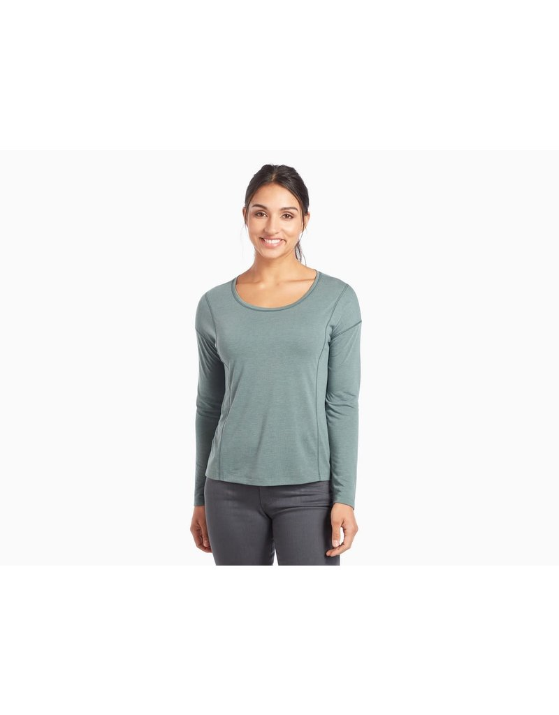 Kuhl Women's Inara Long-Sleeved Shirt Pewter Green