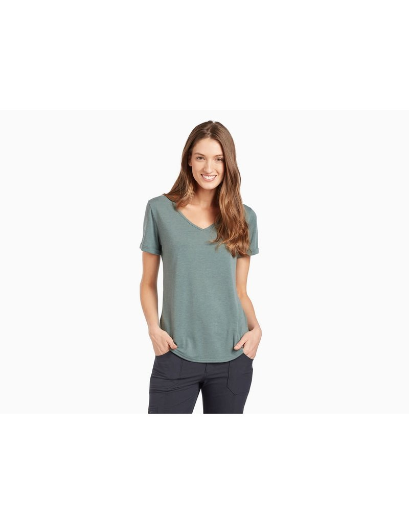 Kuhl Women's Inara Short-Sleeved Shirt Pewter Green