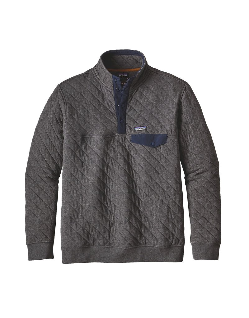 Patagonia Mens Organic Cotton Quilt Snap-T P/O Forge Grey