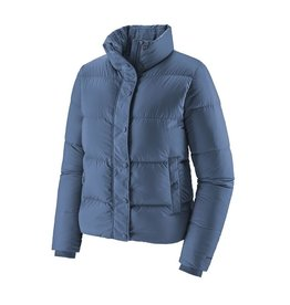 Patagonia Womens Silent Down Jacket Woolly Blue