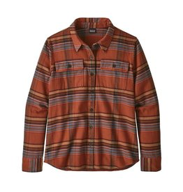 Patagonia Womens L/S Fjord Flannel Shirt Cabin Time: Barro Brown