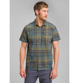 Prana Cayman Plaid Shirt Rye Green