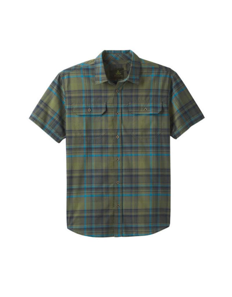 Prana Cayman Plaid Shirt Rye Green