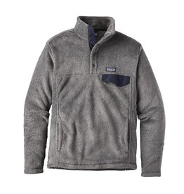 Patagonia Mens Re-Tool Snap-T P/O Feather Grey - Ink Black X-Dye