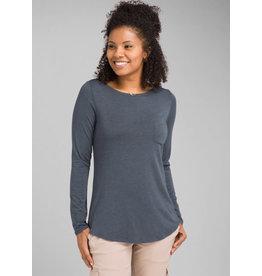 Prana Foundation Long Sleeve Tunic Grey Blue Heather