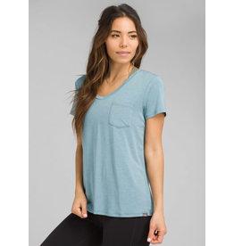 Prana Foundation Short Sleeve Vneck Vintage Blue Heather