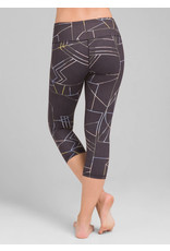 Prana Women's Pillar Printed Capri Black Jigsaw