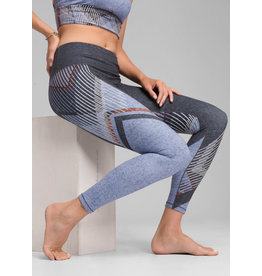 Prana Women's Pillar Printed Legging Blue Sangria