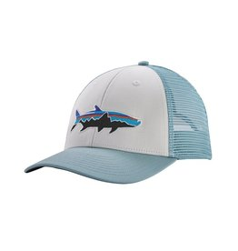 Patagonia Fitz Roy Tarpon LoPro Trucker Hat White w/Big Sky Blue ALL
