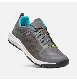 Keen Footwear Womens Explore wp-steel grey/bright turquoise