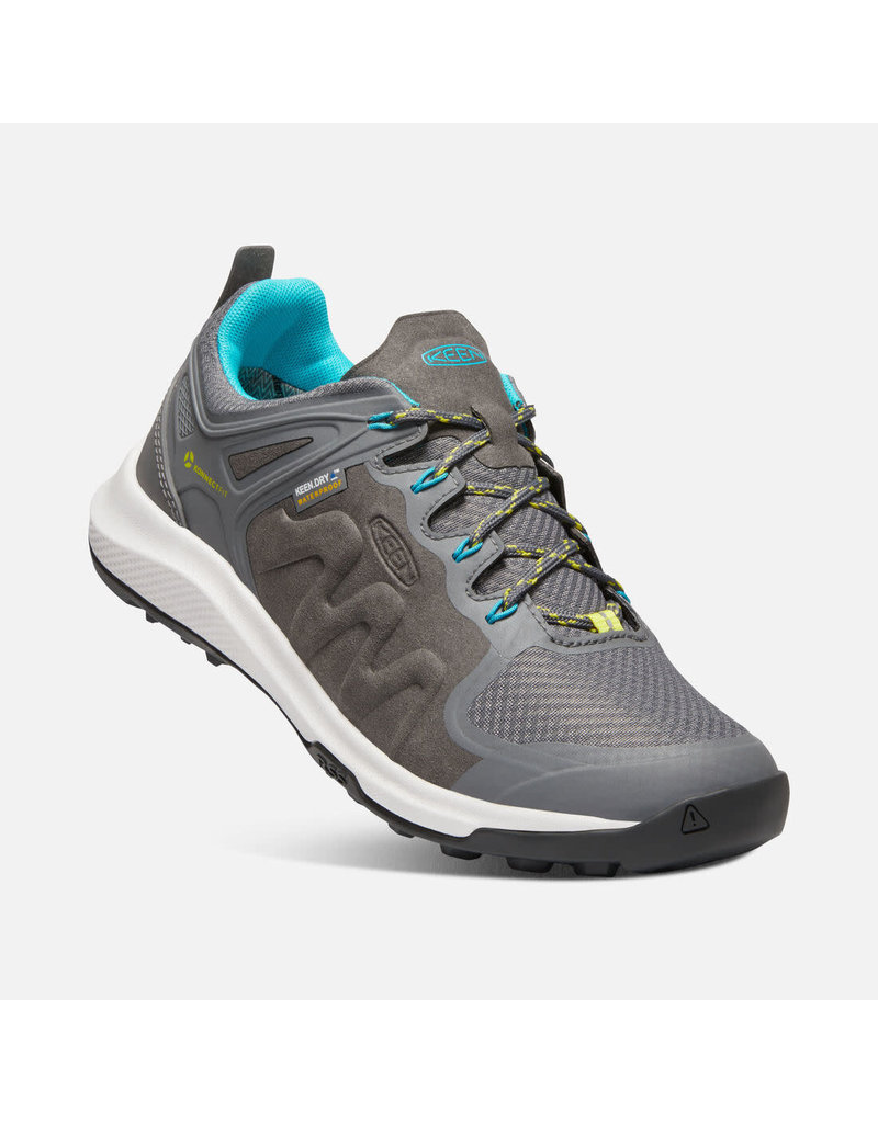 Keen Footwear Womens Explore wp-steel grey/bright turquoise