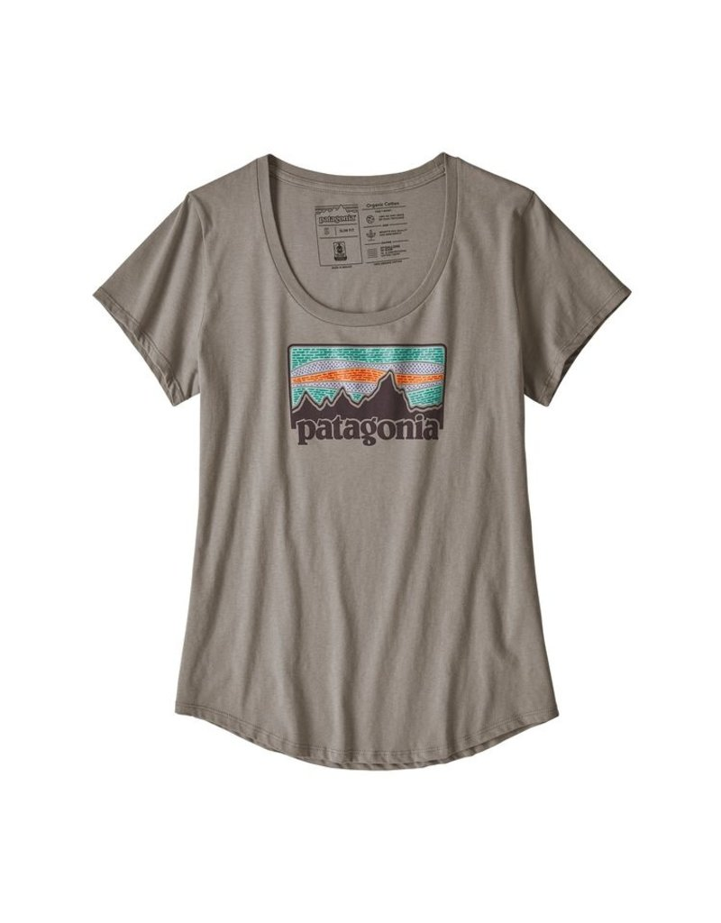 Patagonia Womens Solar Rays 73 Organic Scoop T-Shirt Feather Grey